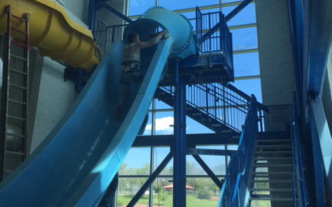 water slide
